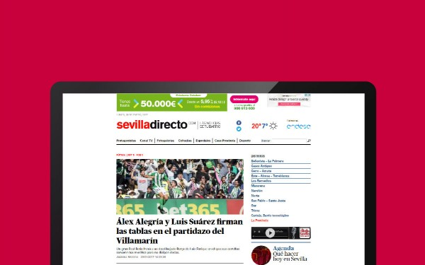 Portal web – Periódico digital Sevilla Directo