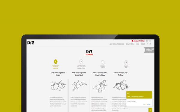 Aplicación Web – Personalización de botellas de Aceite de Oliva