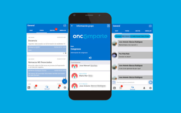 App Oncomparte – Red colaborativa